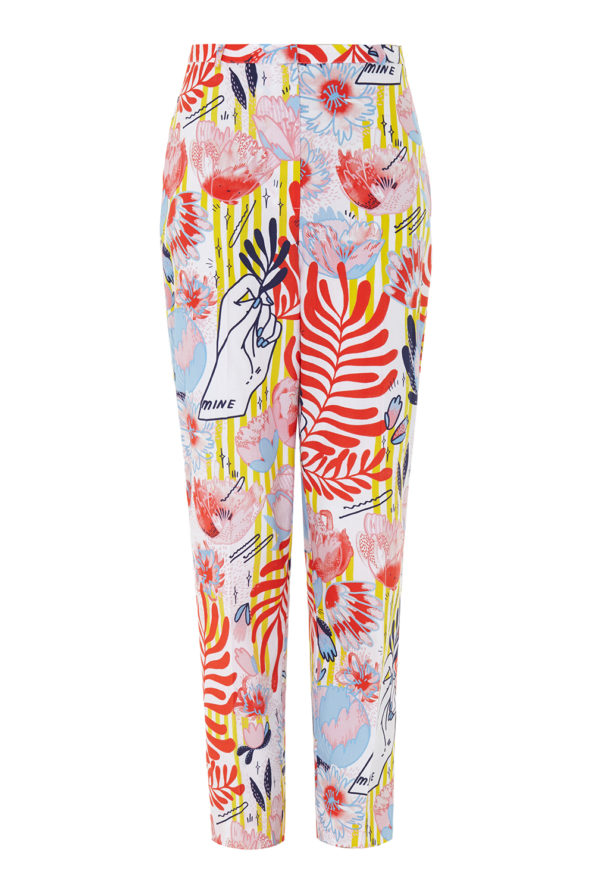 Jasmine print trousers