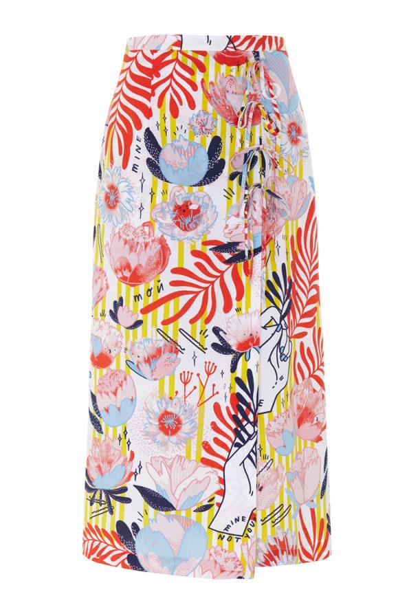 Nora print skirt