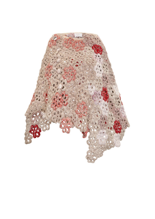 Hand Crochet flower skirt