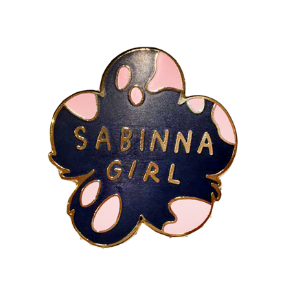 SABINNA GIRL metal pin